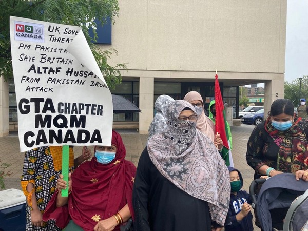 Muttahida Qaumi Movement stages protest in Canada against Imran Khan, Pak Army