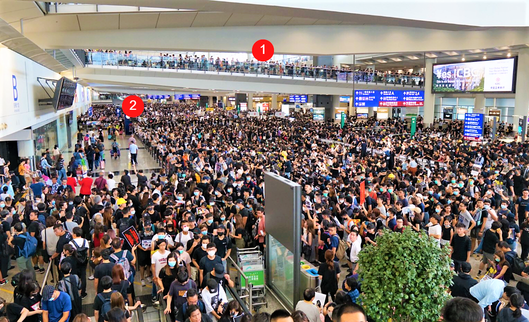 Hong Kong airport paralyzed for second day; check-in services suspended
