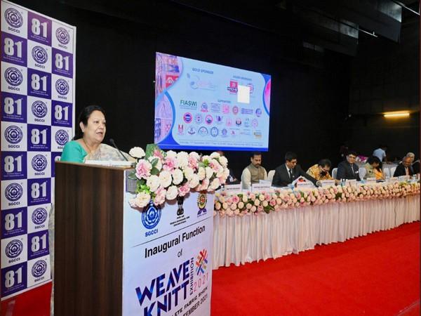 MoS Darshana Vikram Jardosh inaugurates Weave Knitt exhibition in Surat