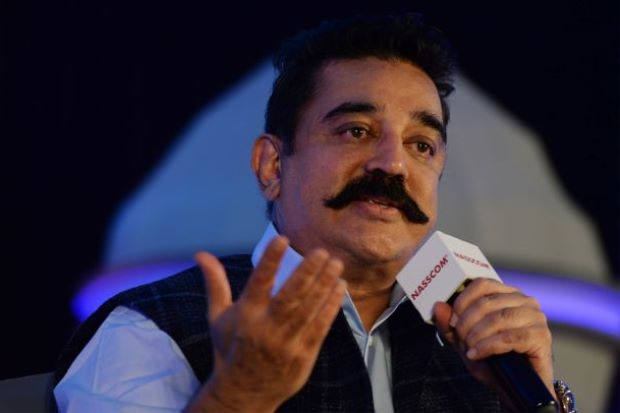 Eggs, stones thrown at meeting addressed by Kamal Haasan