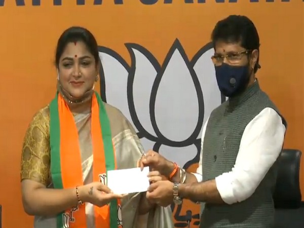Khushbu Sundar joins BJP in New Delhi, welcomed by party's Tamil Nadu president Dr L Murugan