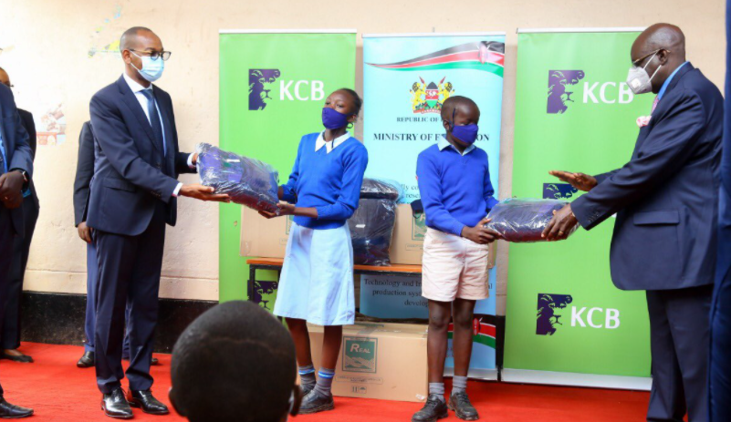KCB Bank donates 1 million reusable face masks to support school reopening
