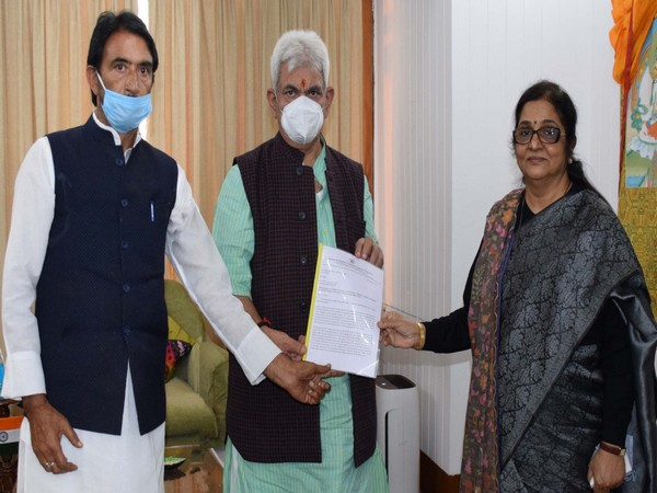 Congress's Rajni Patil submits memorandum to LG highlighting problems of Jammu and Kashmir