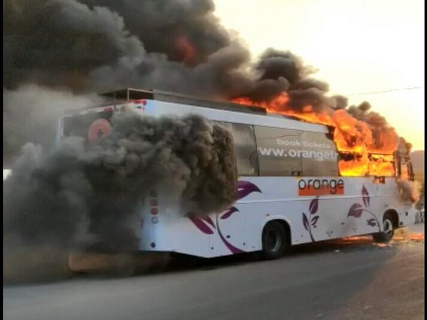 Narrow escape for 26 passengers as bus catches fire in Hyderabad