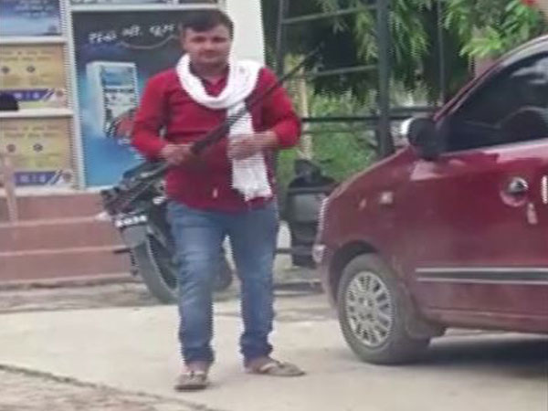 Caught on Camera: Youth openly fires shots in Prayagraj, probe underway