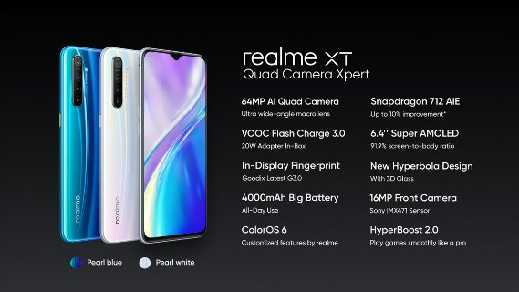 Realme XT with 64MP camera launched at Rs 15,999; Realme XT 730G arriving in December