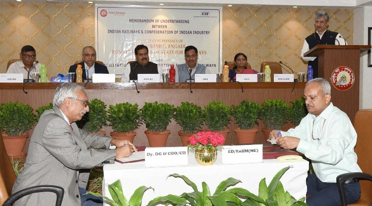 Railways Ministry signs MoU with CII to carry forward green initiatives