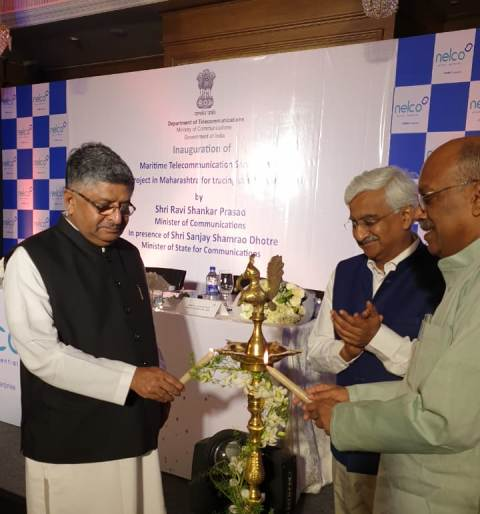 Maritime communication services launched  by Minister RS Prasad at Mumbai
