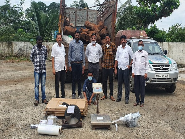 Police in Maharastra's Raigad recovers 3,750 kg red sandalwood, three arrested