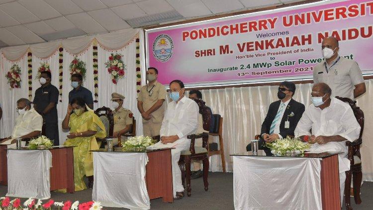 VP Naidu stresses importance of 'Atma Nirbharta' in solar energy