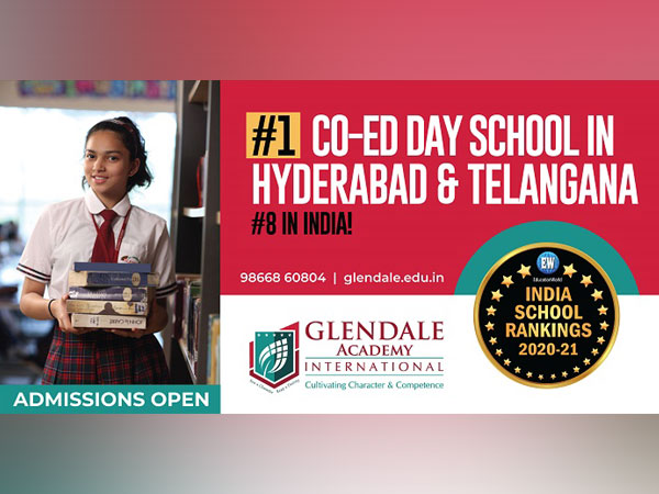 Glendale Academy International ranked as No. 1 co-ed school in Hyderabad and Telangana and No. 8 in India by Education World