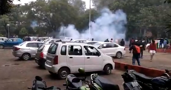 Jamia protests: Students allege use of tear gas by protesters