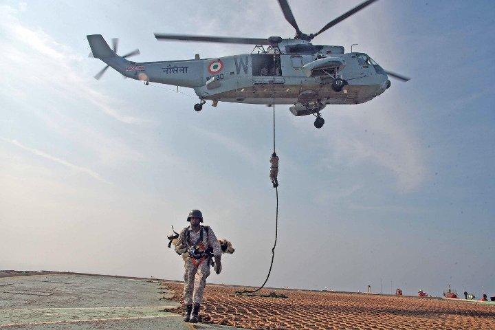 Coastal defence exercise Sea Vigil conducted on 12 and13 Jan