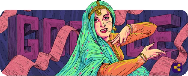 Madhubala-Google Doodle on 86th Birthday of The Venus of Indian Cinema