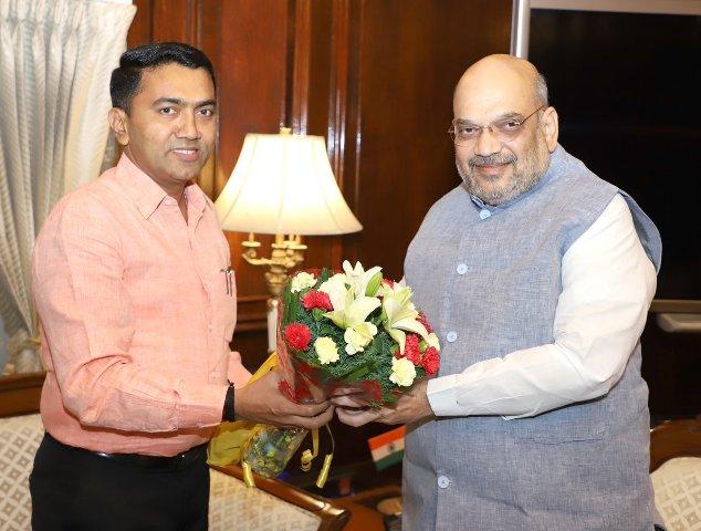 Goa CM meets Amit Shah, Union HRD minister