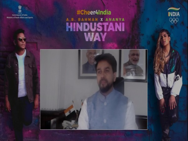 Tokyo Olympics: Sports Minister Anurag Thakur launches official Team India cheer song