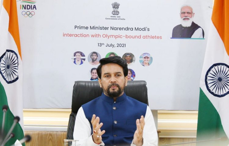 Anurag Thakur launches official cheer song for Tokyo-bound Indian contingent