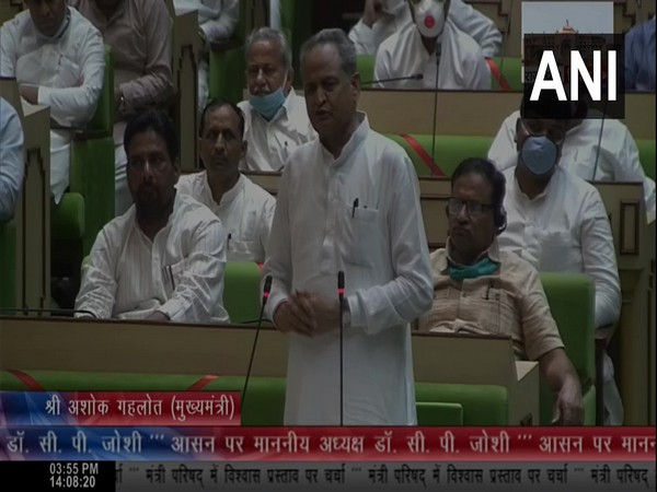 Gehlot government wins vote of confidence in Rajasthan assembly by voice vote