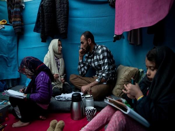 US gives 1st public look inside base housing Afghans