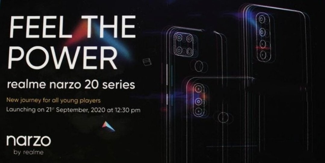 New leak reveals full specs of the upcoming Realme Narzo 20 Pro