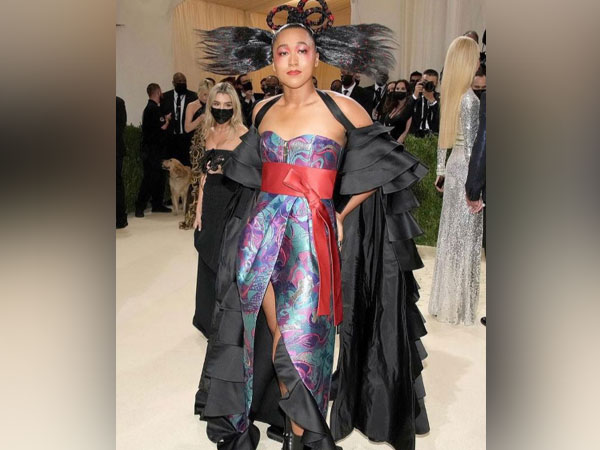 Naomi Osaka arrives at Met Gala in glamorous outfit co-designed by her sister