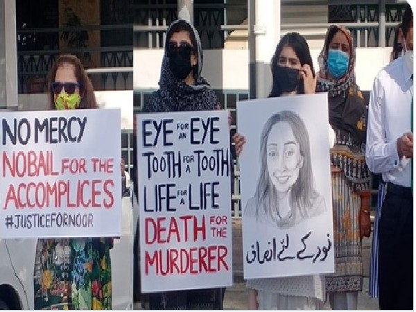 Noor Mukadam's murder: Protest outside Islamabad High Court for justice