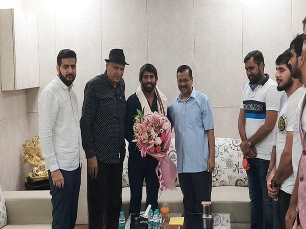 Delhi CM Kejriwal meets Olympics bronze medalist Bajrang Punia
