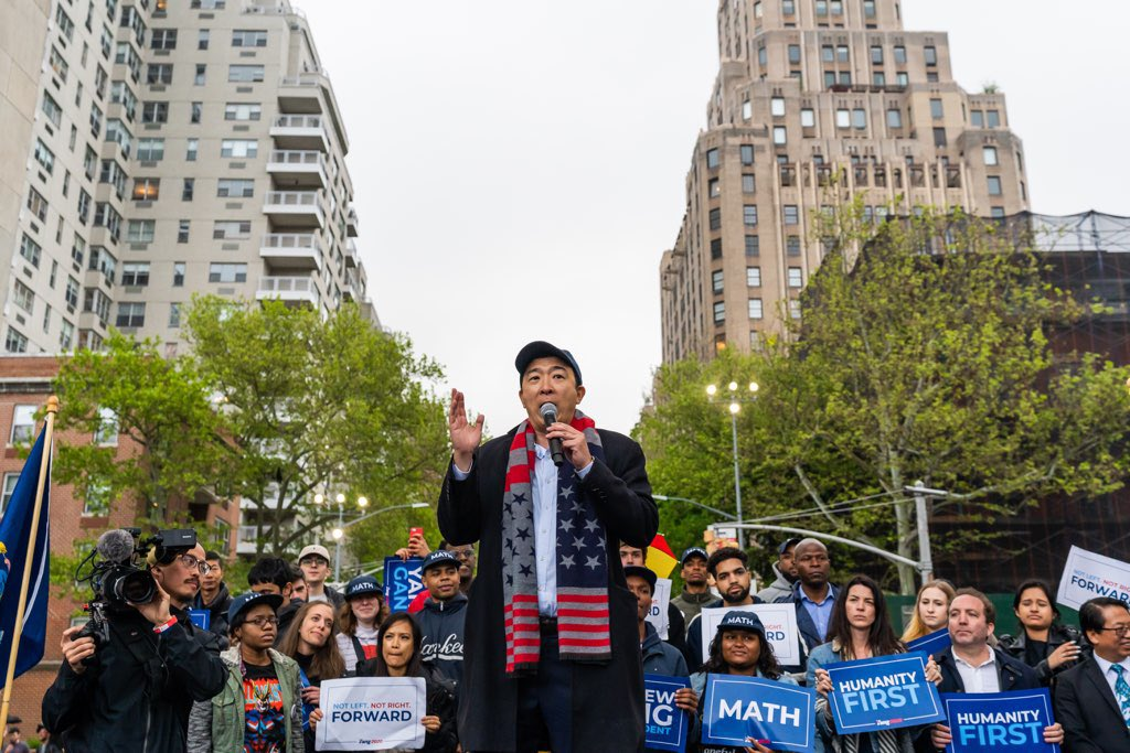 Democrat Andrew Yang's presidential bid and ambitious USD 1,000 promise