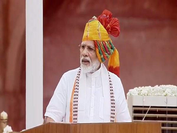 PM Modi dons multi-colored turban for Independence Day speech