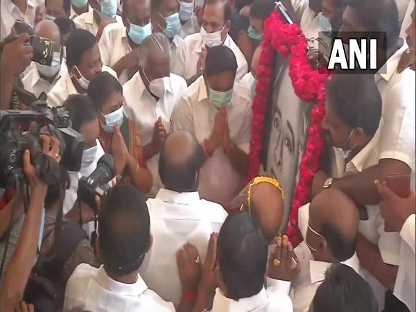 MK Stalin pays floral tribute to DMK founder CN Annadurai on birth anniversary