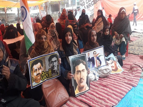 Women inspired by Shaheen Bagh agitation stage sit-in protest at Prayagraj's Roshan Bagh