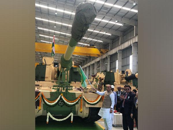 Rajnath Singh flags off 51st K-9 Vajra-T gun