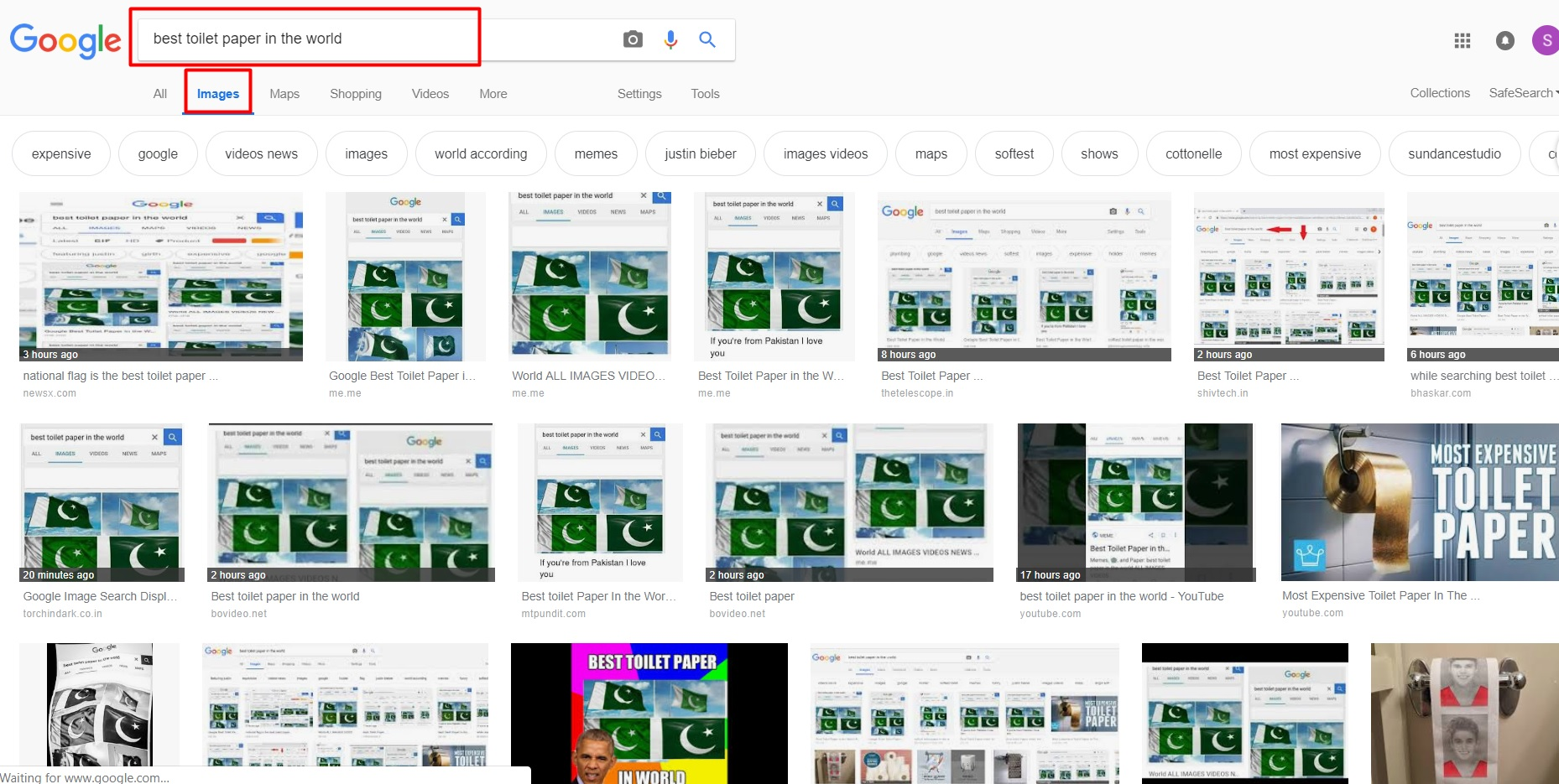 Best toilet paper in the world: Google shows Pakistan's national flag
