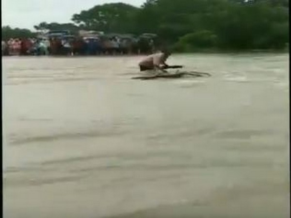 MP: Man gets washed away while trying to cross overflowing bridge in Rajgarh