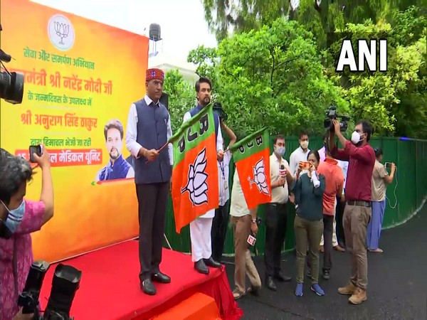 Anurag Thakur, Mansukh Mandaviya flag off 15 mobile medical vans for Himachal Pradesh ahead of PM Modi's birthday