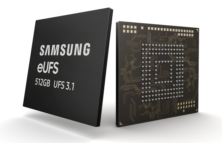 Samsung announces mass production of 512GB eUFS 3.1 storage