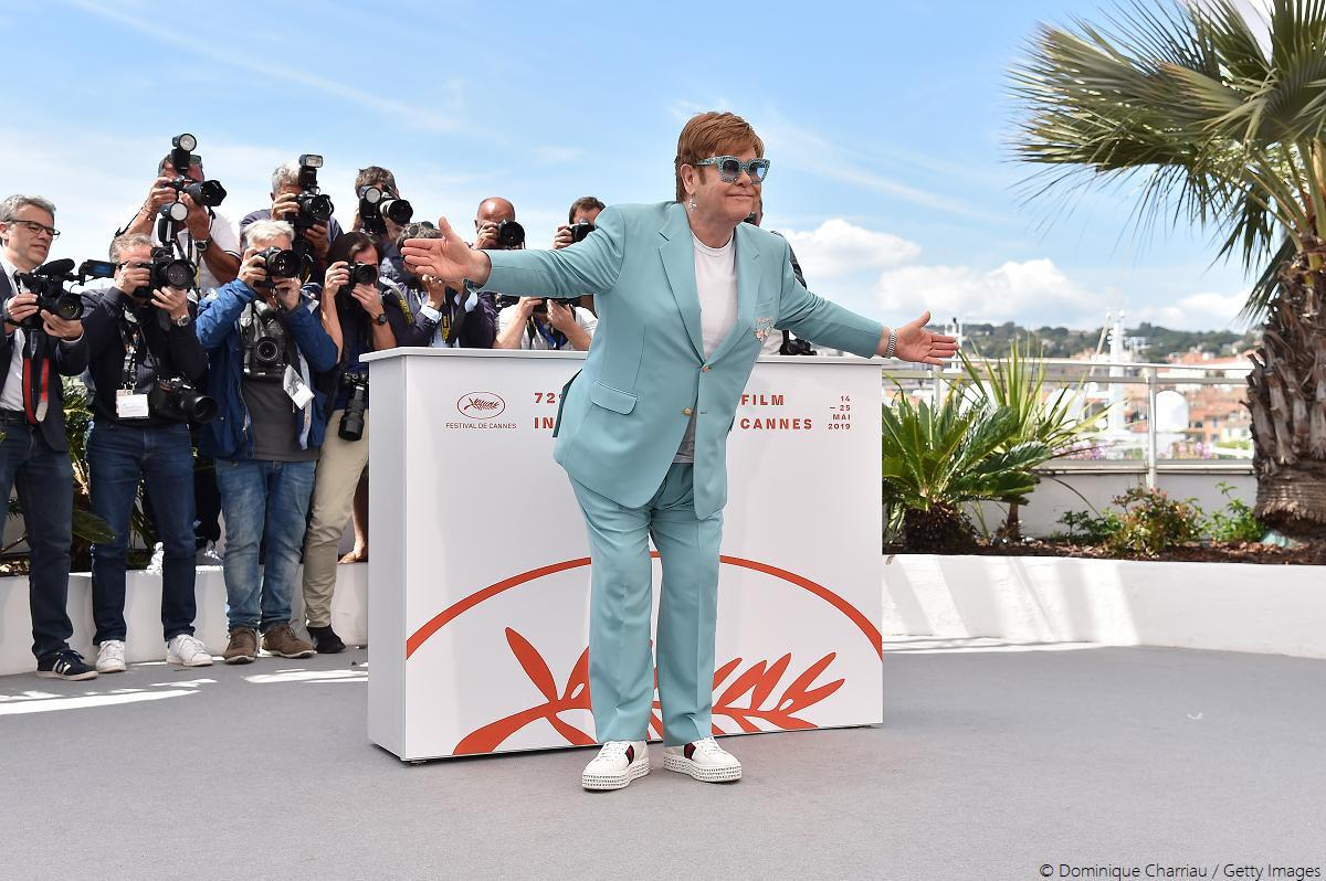 UPDATE 1-Elton John touches down in Cannes for sparkling 'Rocketman' premiere