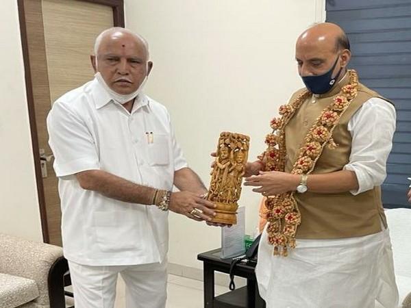 Yediyurappa meets Rajnath Singh in Delhi, discusses indigenous aerospace, defence manufacturing ecosystem in Karnataka