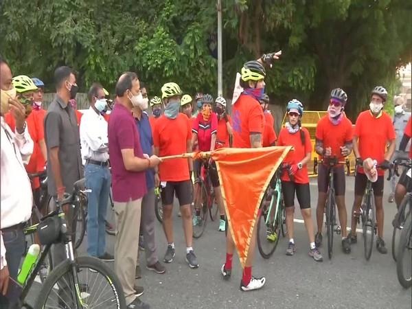 BJP MP Arun Singh flags off cycle rally on PM Modi's 70th birthday