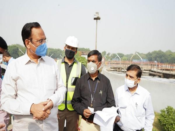 Satyendra Jain inspects wastewater treatment plants at Rohini, Rithala, and Coronation Pillar