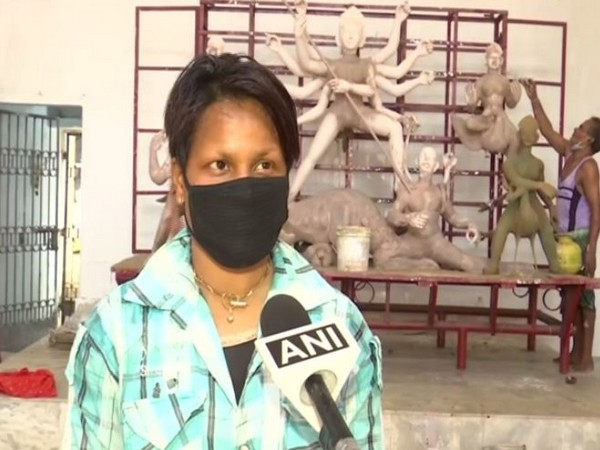 24-year-old woman quits studies to help father in making idols in Bhubaneswar