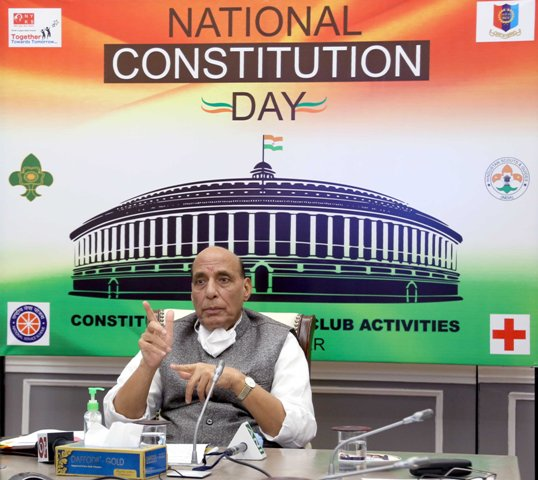 Rajnath Singh inaugurates Constitution Day Youth Club to spread awareness