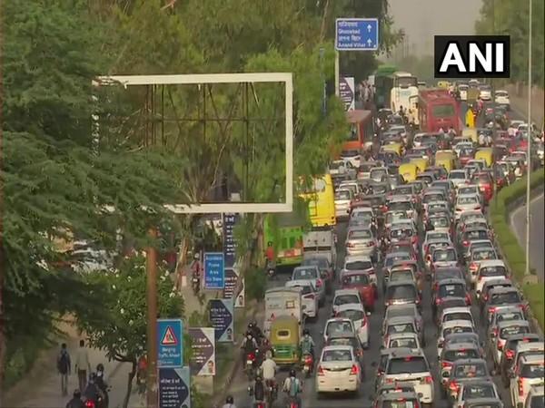 Heavy traffic at ITO, Yamuna Bridge area in Delhi today