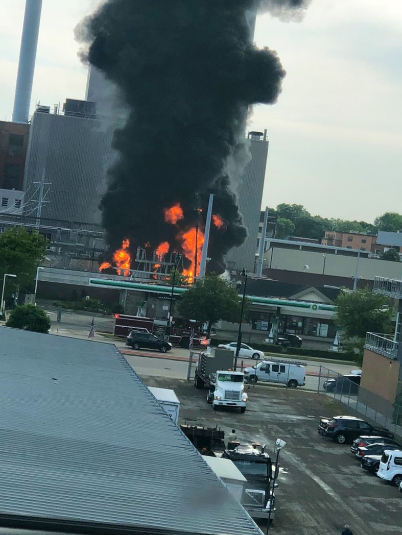 Watch: Fire breaks out in Madison's MGE center and substation