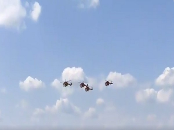IAF Sarang helicopter performs at MAKS-2021 air show in Moscow