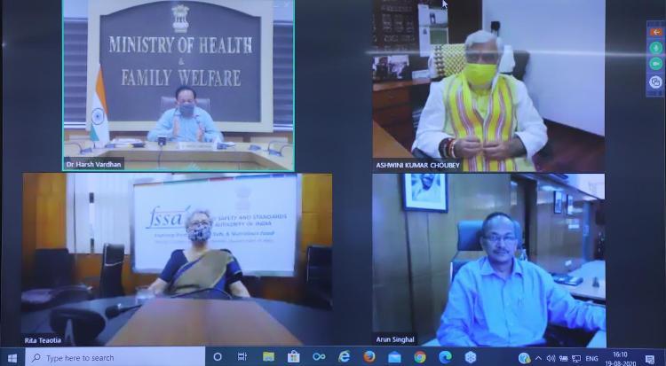 Dr Harsh Vardhan presides over online orientation workshop held by FSSAI