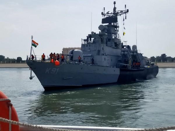 Indian Navy Ship Pralaya reaches Abu Dhabi to participate in NAVDEX 21, IDEX 21