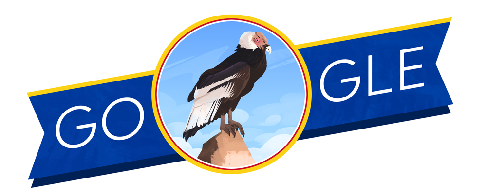 Google celebrates Colombian Independence Day with a doodle on July 20