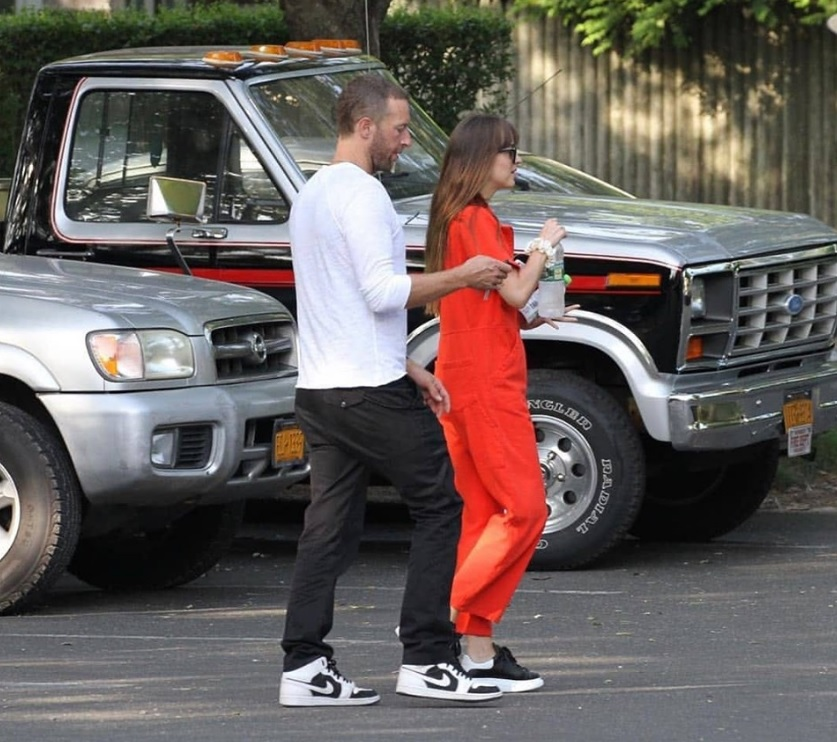 Jamie Dornan's Fifty Shades partner Dakota Johnson gets cozy with Chris Martin