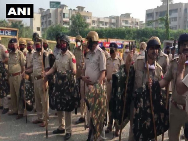 Police deployed in Haryana's Ambala in view of farmers' protest